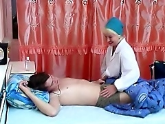 Sexy mature doctor double penetrated