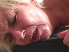 After a few drinks he wants to fuck his mother in law in her mature pussy hole