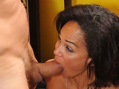50 year old MILF takes one in her hairy snatch!