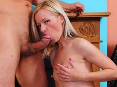 Hot blonde MILF gets railed!