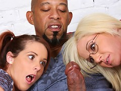 Mother watches her daughter get filled with black mans goo