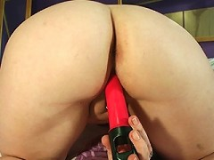 Masked mature slut playing with her pussy
