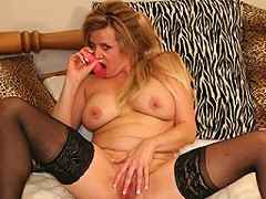 blond mature slut pleasing herself for you